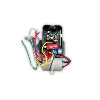 Módulo Receptor para Controle Remoto Latina 110v Capacitor de 08,0uF Luz Azul + Base Preta - VT673 -