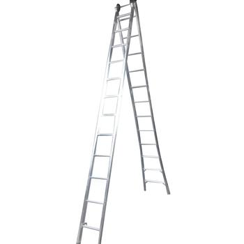 Escada de Aluminio 12 Degraus Extensiva 4 em 1 2x12 Degraus em Alumínio - REAL ESCADAS-EX12