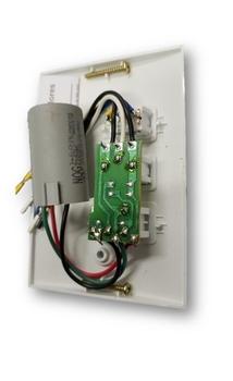 Chave para Ventilador Spirit 3Velocidades 127v09,0uF 3,0+6,0mF - Espelho Moderno Branco - Dimmer e Luz