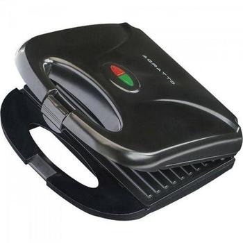 Sanduicheira Elétrica Grill 127v 750w Antiaderente Preta - Mr.Cheff Agratto - SA01 (OCP-0040 SGS)
