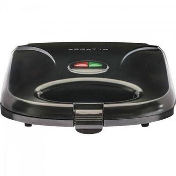 Sanduicheira Elétrica Grill 127v 750w Antiaderente Preta - Mr.Cheff Agratto - SA01 - Sanduicheira e Grill Elétrico 750W Black Agratto SA