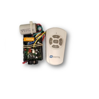 Controle Remoto para Ventilador de Teto VOLARE 220Volts - Kit c/Capacitor 03,0uF - c/Módulo Recepto+Módulo Transmissor Branco