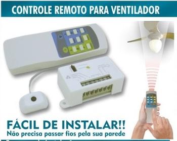 Controle Remoto Universal Bivolts para Ventilador de Teto - Atende Vários Modelos - Sinal Infravermelho - Controle Remoto PW Eletrônica