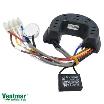 Módulo Receptor do Controle Remoto para Ventilador Ventisol 127volts c/Capacitor 02,5uF