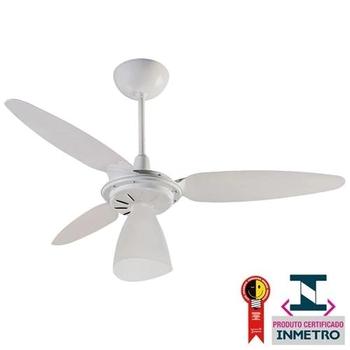 Ventilador de Teto Ventisol Wind Light Premium 127v Branco 3Pás Injetadas Brancas Chave 3Velocidades - Consumo A