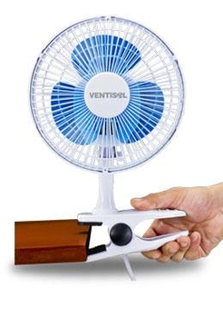 Ventilador De Mesa 20cm Ventisol Mini 220v Branco - Hélice 3Pás Azul - MINI VENTILADOR PREMIUM 20CM