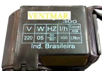 Bomba de Agua para Climatizador JOAPE 220v Vazao 0300L/H - Climatizadores Joape BOB, ANGRA, JUNIOR - Climatizador Ebone FOG1 - FOG2