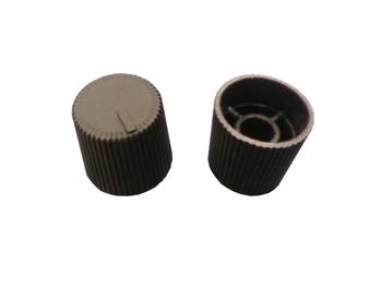 Botão para Controle Rotativo de Velocidade (Dimer) Plástico Preto - Vendido p/Unidade