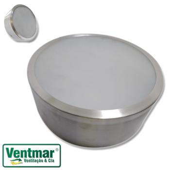 Luminária para Ventilador de Teto -  Modelo Ventisol Fharo - Em Alumínio Escovado - Luminária para V