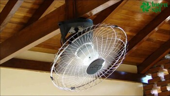 Ventilador de Teto Loren Sid Orbital 60cm Bivolts Preto - Rotação em 360° Grade Metal Galvanizada/Preta