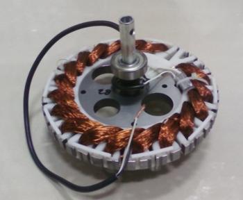 Estator para Ventilador de Teto Loren Sid 127V10,0uF Motor M1 Anel Maior c/2-Rolamentos 6201zz - Eixo Vazado com Rosca p/Luminária