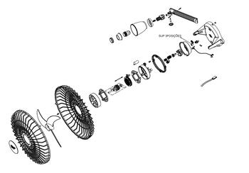 Suporte 3 Posições para Ventilador de Teto Orbital LOREN SID 30/40/50cm Branco - PEÇASORBITAL