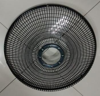 Grade Ventilador Orbital 360º Loren Sid 50cm - Grade Plástica Preta + Fechada - Serve Tanto para Dianteira ou Traseira - Vendida p/Unidade