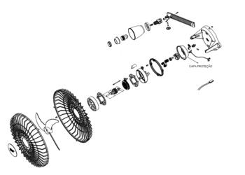 Capacete de Proteção Ventilador Orbital Branco - Capacete do Motor Ventilador Loren Sid Orbital 30/40/50/60cm Anterior
