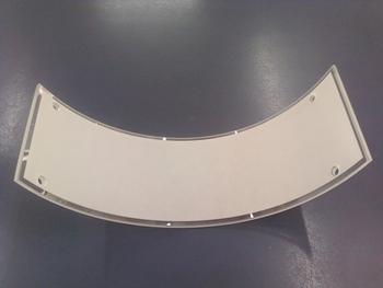 Globo Cúpula Vidro Lateral da Luminária VALÊNCIA Fosco com Borda em Cristal VIDROLSD