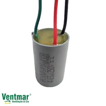 Capacitor para Ventilador de Teto Volare 3Velocidades 3Fios 10,5uF 4,0+6,5mF 250vac - Capacitor Para Ventilador Volare 127Volts