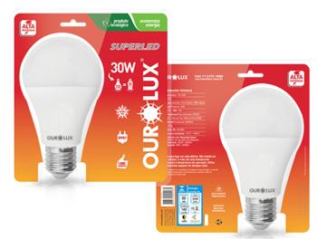 Lâmpada Bulbo LED 30W 6500K Bivolts - Luz Branca de Alta Potência - Ourolux 20410