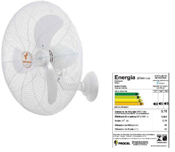 Ventilador de Parede 65cm Ventisilva Bivolts - Chave com Controle de Velocidade - Branco Grade Metal