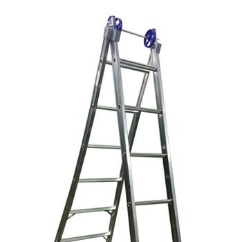 Escada de Alumínio 11 Degraus Extensiva - Escada Extensiva de 11 Degraus - Escada Profissional 4 em 1