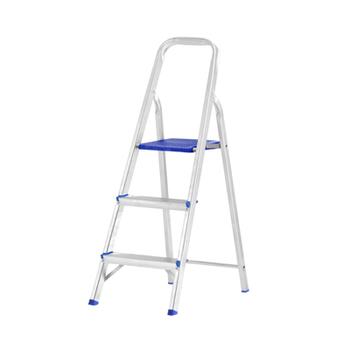 Escada de Alumínio 03 Degraus Doméstica  - SBA / REAL ESCADAS - Medidas Fechada 115cm - Aberta 109cm
