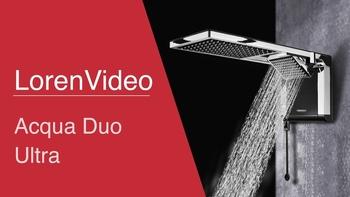 Chuveiro Ducha Lorenzetti Acqua Duo Ultra 220v 7800Watts - Preto/Cromado - Ducha Acqua Duo Lorenzetti