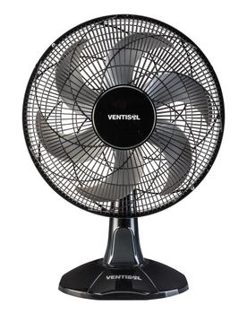 Ventilador de Mesa 40cm Ventisol Turbo 6Pás 127v 80w Preto Helice 6Pas Cinza - Controle de Velocidade - Ventilador se Adapta p/Parede