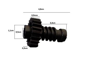 Engrenagem COM Rosca Sem Fim Ventilador Arge 50/60cm - p/Caixa de Engrenagens Maior - Anterior - ENG
