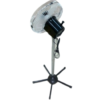 Ventilador De Coluna 30cm Loren Sid Turbo 127v 130w Preto - Hélice 3Pás - Grades e Colunas em Metal Cromadas - Controle de Velocidade Rotativa