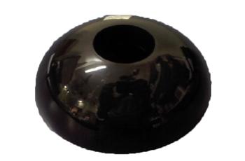 Canopla 0391 Plastica Preta - Capa Plástica do Suporte do Ventilador de Parede Ventisol - Preto
