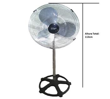 Ventilador de Coluna 40cm Loren Sid Turbo 127v 135w Preto - Hélice 3Pás - Grades/Colunas Metal Cromadas - Controle de Velocidade Rotativo