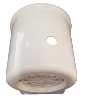 Capacete Ventilador Arge 50/60cm Branco - Capa do Motor Ventilador Twyster - Capa do Motor Ventilado