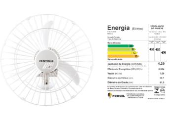Ventilador de Parede 60cm Ventisol Bivolts Comercial 200w Branco - Chave com Controle de Velocidade - Hélice 3Pás