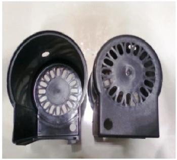 Capa do Motor do Ventilador VENTI DELTA Premium / Gold Preta
