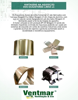 Exaustor para Coifa 50cm 220v - Exaustor para Cozinha - LUFTMÁXI LC500 Vazão 4.000m3/h Monofásico Co