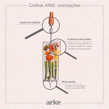 Grelha para Churrasco - Kit c/03 Grelhas MultiUso/Peixe/Coração - Assador ARKE Vitta - Vitta Premium