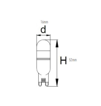 Lâmpada Halógena Led G9 Bi-Pino 127v 2,5w 6500K - Lâmpada para Ventilador de Teto - Spirit Modelo 20