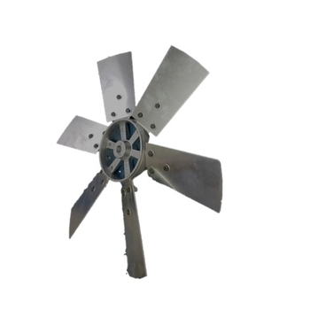 Helice para Exaustor Ventisilva E60T4 E60T6 FC FV 60cm 6Pás Alumínio c/Cubo Centro Aluminio Fundido - Encaixe Eixo 20,0mm c/Parafuso Lateral