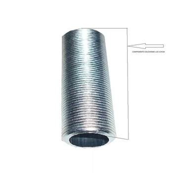 Nipel de Metal com Rosca Comprimento 4,0cm para Luminárias - Niple de Metal 030/040mm - Medida Padrão para Instalar Luminária em Ventilador de Teto