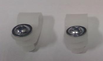 Trava para Grade do Ventilador Ventisol Branca Plástica - MX - 1649 - Vendida por Unidade com Parafu