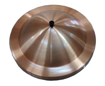 Luminária Cega para Ventilador de Teto - Plafon Pequim Metal Cobre para Ventilador de Teto Cego/Sem Luminária