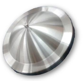 Luminária Cega para Ventilador de Teto - Plafon Pequim Metal Alumínio Escovado para Ventilador de Teto Cego/Sem Luminária