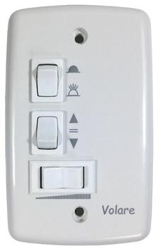 Chave para Ventilador de Teto Volare 127v 3Velocidades c/Capacitor de 10,5uF (4,0+6,5mF) - Ventilado