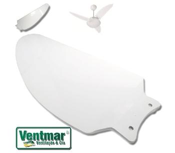 Pá Hélice do Ventilador de Teto Volare VENTAX 10 VENTAX10 - Pá Plástica Modelo Iris Branca - PAVLR