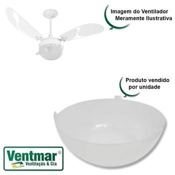 Globo Cupula Plastica para Luminaria do Ventilador de Teto Venti-Delta New Montana - New Paraty - Diâmetro 195mm/19,5cm