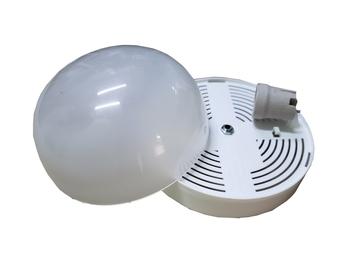 Luminária para Ventilador de Teto Venti-Delta Montana Paraty - Plafon Plástico Branco c/Globo Cupula Montana/Paraty c/1-Soquete