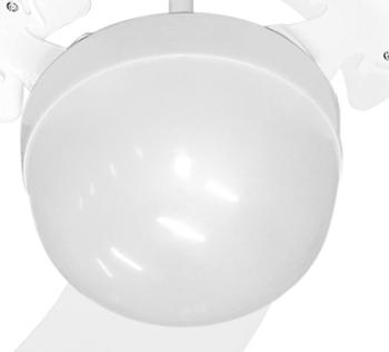 Luminária para Ventilador de Teto -  Modelo Montana Plafon PL Branco Completo do Ventilador Venti-de
