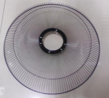 Grade do Ventilador VENTI DELTA 50cm Premium/Gold Metal Preta