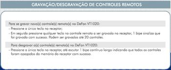 Módulo Transmissor do Controle Remoto para Ventilador de Teto - Modelo Devise Defan VT1020 - *Apenas o Módulo Transmissor Manual