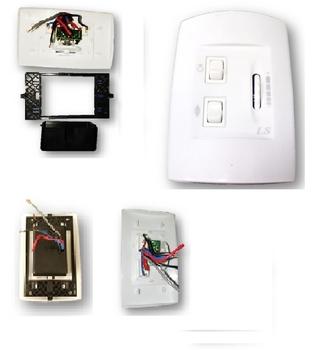 Chave para Ventilador de Teto Loren Sid / Chave para Ventilador de Teto Arge - Dimer Rotativo Bivolts 200Watts Teclas Liga/Desliga/Reverte+Lâmpada