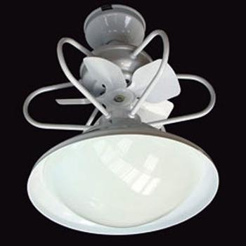Helice para Ventilador de Teto AC VENT 25cm - Modelos AcVent 8022 8035 Eclipse Saturno - 5Pás Metal Encaixe Eixo 6,0mm c/Trava Plástica 4Pinos